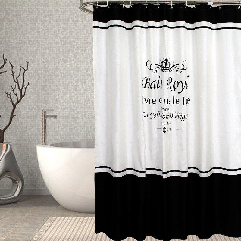european modern shower curtain fabric waterproof mildewproof modern bathtub bathroom curtain