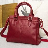 2017 Hot Selling Women S Genuine Leather Handbag Cowhide One Shoulder Bag Black Blue Varied Color