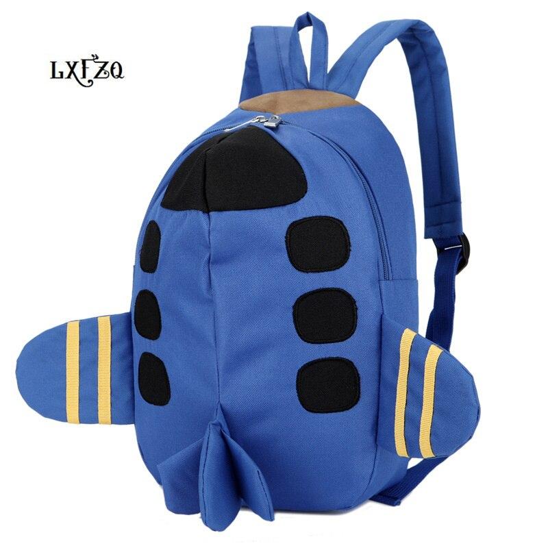 Backpacks Printing Backpack Bag Children's Backpack 4Colour School Bag Cartoon Plane Backpack For Girls Rugzak Mochila Infantil
