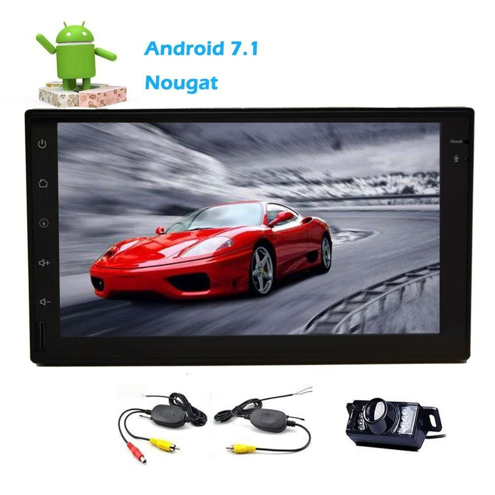 Android 7.1 Car Stereo 2 Din Bluetooth Car FM/AM Radio Receiver Tablet Dispaly Wifi Web Browsing App Video+Wireless Rear Camera