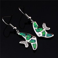 925 Sterling Silver Opel Earrings Luxury New Goldfish Opel Earrings Personality Charm Female Earrings