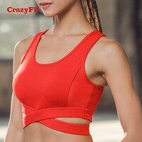 CrazyFit High Impact Sports Bra Plus Size 2018 Women 4XL Red Black Green Yoga Gym Bras Padded Workout Running Fitness Brassiere