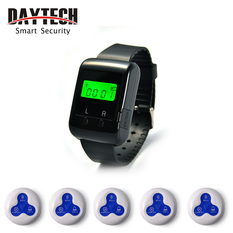 Call Button Wireless Calling Pager System Restaurant Hospital Service Waterproof Buzzer wireless calling system new hot 100% waterproof pager restaurant service waiter calling full equipment 1 display 7 call button