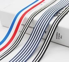 Double Sided Stripe Black And White Grosgrain Ribbon Vertical Wave Tape Chevron Herringbone Fabic Wrap Band