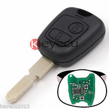 Keyecu New Uncut Remote Car Key Fob 2 Button 433MHz Electronic ID46 for Peugeot 406