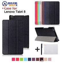 Caso de la cubierta de Funda para Lenovo Tab 4 TB-8504F TB-8504N 8 pulgadas Tablet (2017 nueva versión) piel de la cubierta protectora + regalo libre