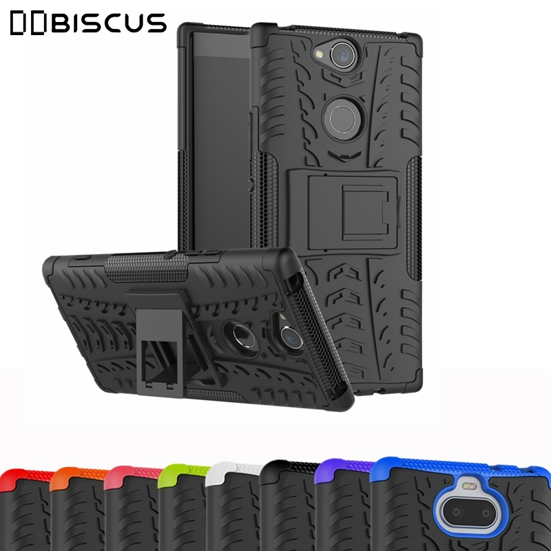 Hard Armor Holder Silicone Case For Sony Xperia 10 1 L1 L2 L3 XA Ultra XA1 XA2 Plus XZ1 XZ2 XZ3 Compact XZ Premium Ace 8 5 Cover(China)