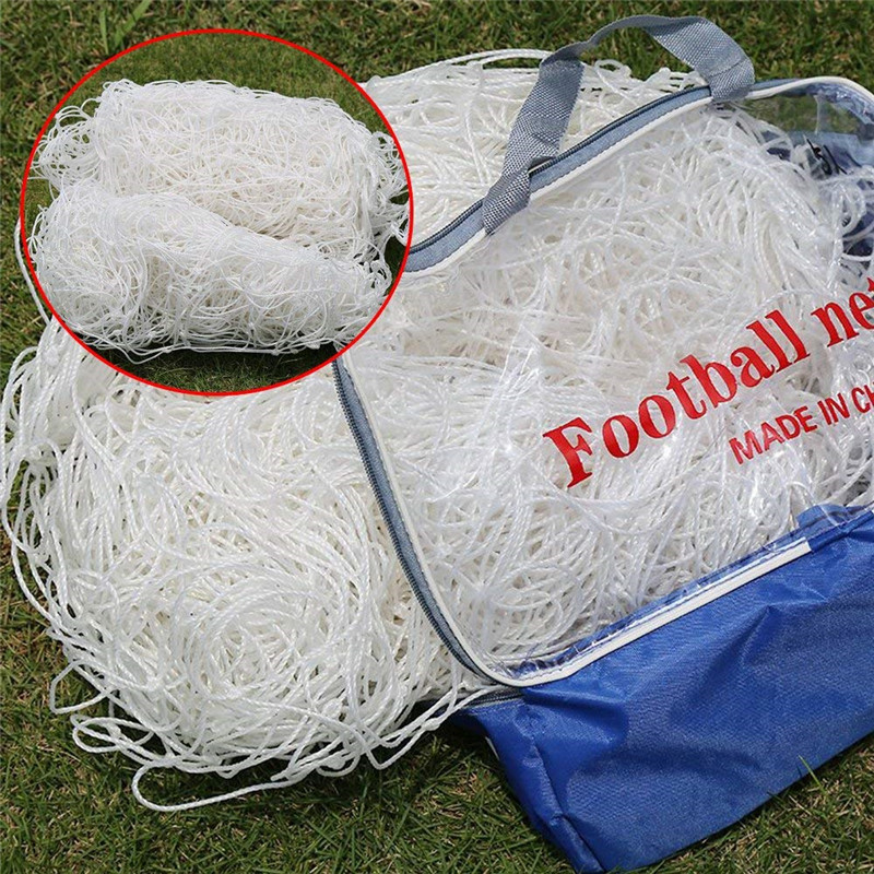 Soccer Goal Net Football Nets Polyethylene Sport Training Post Nets Mesh For Gates 3.2mx2.1m Full Size (Nets Only) School Club
