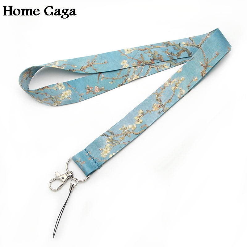 D0262 Homegaga Newest Lanyard Van Goghs branches of an almond tree in blossom for key-ID Phone USB Holders Neck Straps webbing