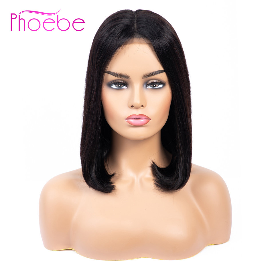 Phoebe 13x4 Lace Front Human Hair Bob Wigs Remy Malaysia Hair 150 Density Straight Lace Front
