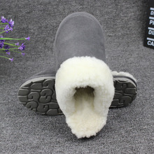 Natural Fur Slippers Women Home Winter Warm Indoor Wool Slippers 2017 Men Fashion Furry Australia Sheepskin House Slippers 35-48