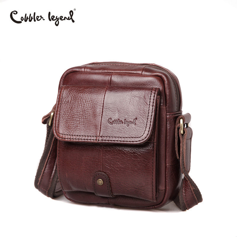 Cobbler Legend Genuine Leather Bag Men High Quality Vintage Men Bag Luxury Handbag Men Shoulder Bag Small Crossbody Bag Designer