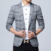 Business Mens Slim Fit Blazers 5XL Mens Plaid Blazers Khaki Social Jackets Blazers Mens Office Dress Check Autumn Cheap Clothes