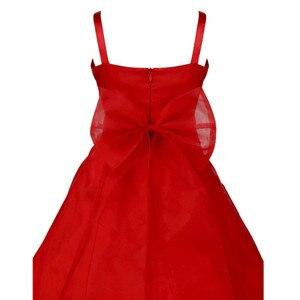 Image 5 - Dzieci dziewczyny bez rękawów Organza Tutu księżniczka kwiat sukienki dla dziewczynek lato ślub urodziny długa sukienka na imprezę pierwsza sukienka komunijna