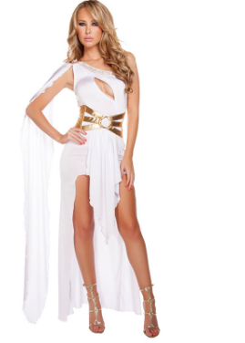78fab9741 Nuevo llega negro blanco sexy reina egipcia Cleopatra traje disfraces de  Halloween para adultos mujeres vestido