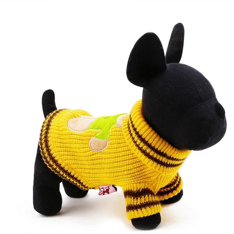 2016 nouveau printemps automne mignon ours en peluche impression pet chien de laine chandail chiot hiver