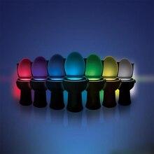 Z30 Sensor Toilet Light LED Lamp Human Motion Activated PIR 8 Colours Automatic RGB Night lighting