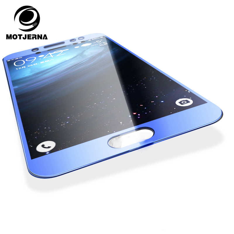 Motjerna Full Cover Tempered Glass For Samsung Galaxy j5 J7 2017 J3 A5 A3 A7 2017 Blue Black Front Film Screen Protector