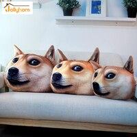 3D Doge Kabosu Coussin En Peluche de Bande Dessinée Oreiller Personnalité Voiture Coussin Creative Chien forme Sieste oreiller Mignon coussin de siège 3 Taille
