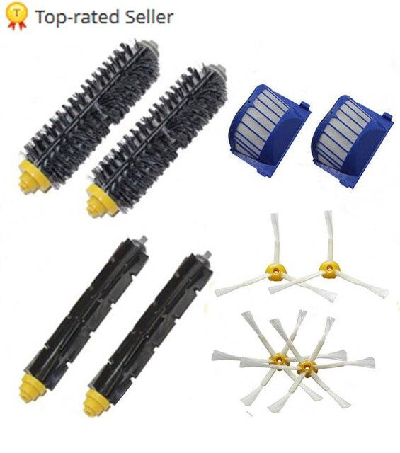 Высокое качество щетиной и гибкий венчик и вооруженные кисти и воздушный пылесос фильтр для IROBOT Roomba 600 620 630 650 660