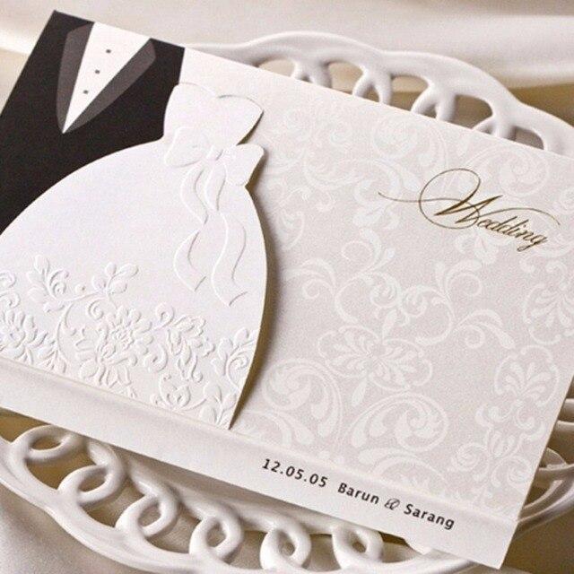 Laser cut wedding invitations cards with black white evening dress laser cut wedding invitations cards with black white evening dress style formal paper cardstock elegant stopboris Choice Image