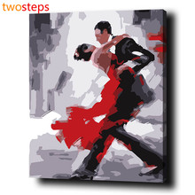 TwoSteps DIY Digital Canvas Oil Painting By Numbers Pictures Coloring By Numbers Modern Acrylic Paint By Number Kits Dance Tango