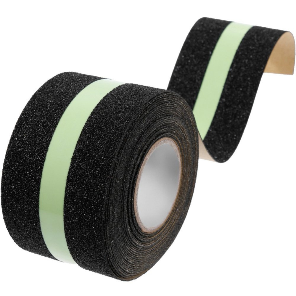 1pcs 5cm*5M PVC Frosted Surface Anti Slip Tape Glow in Dark Grip Traction Tape Abrasive for Stairs Tread Step Safety Tape 5cm 5m frosted surface anti slip tape abrasive for stairs tread step safety tape non skid safety tapes