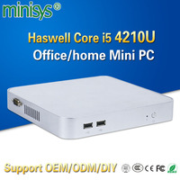 Minisys cheap personal computer intel haswell i5 4210u dual core 1.7GHz htpc mini pc support HD graphics card for windows 10