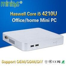 Minisys дешевые персональный компьютер intel haswell i5 4210u dual core 1,7 ГГц htpc мини-ПК поддержка HD graphics карты для windows 10