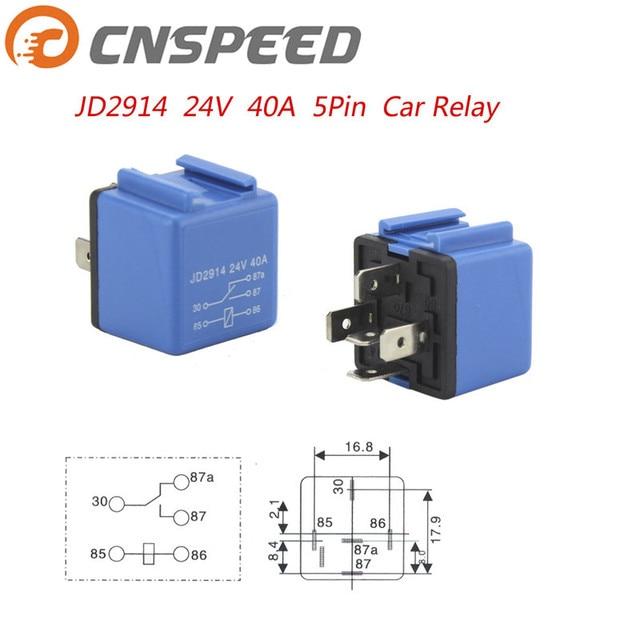 CNSPEED Car Relay DC 24V 40A 5 Pin Blue Car Power Flasher Car Power
