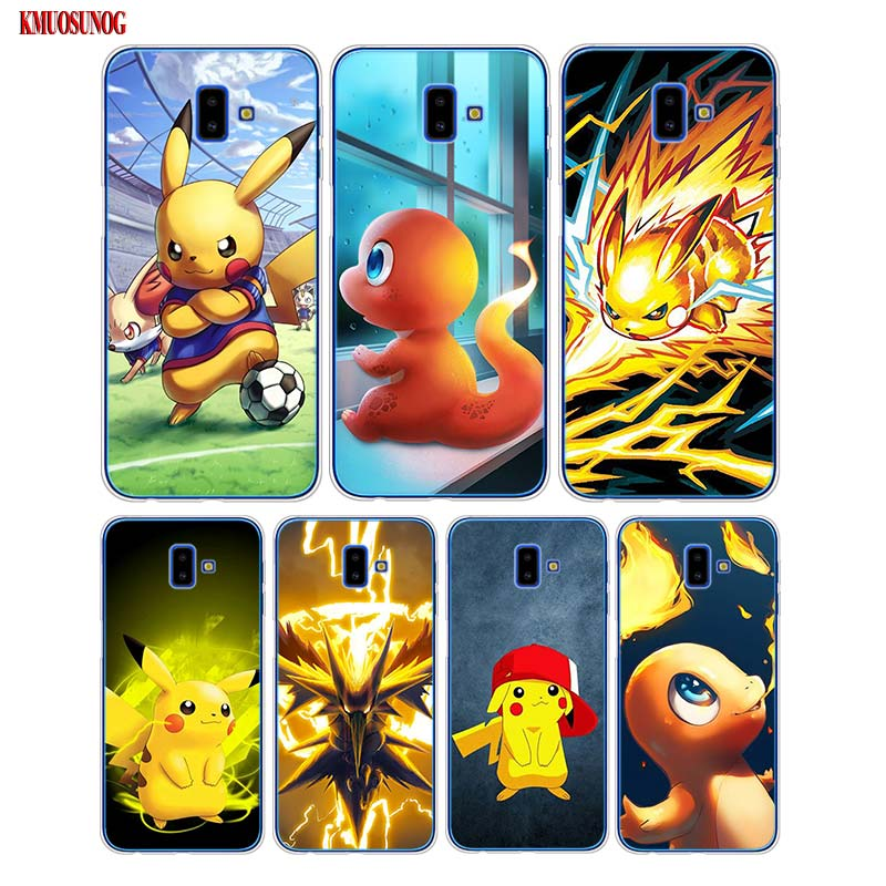 Silicone Soft Phone Case Pokemons Pikachu Printing for Samsung Galaxy j8 j7 j6 j5 j4 j3 Plus 2018 2017 Prime 2016 image