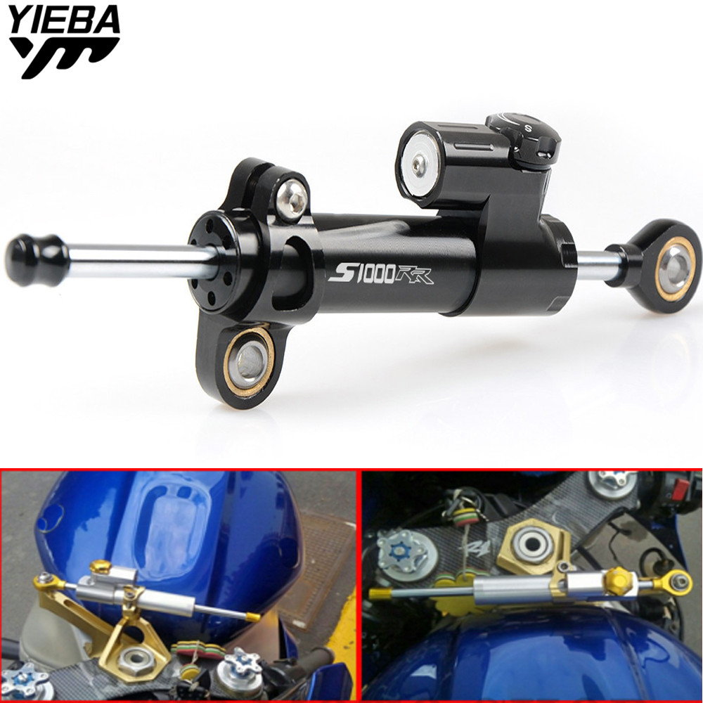 Universal Motorcycle CNC Steering Dampers Stabilizer Safety Control For BMW S1000RR S 1000RR S 1000 RR