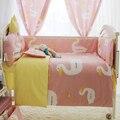 Agradable a la piel Del Bebé Niño ropa de Cama de Algodón Set de Cuna Y Ropa de Cama de Bebé Recién Nacido Edredones de Topes En Cunas, bebé ropa de Cama Cuna Conjunto