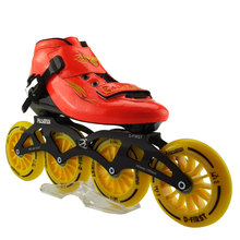 Professional Adults Skate Roller Skates Slalom/Braking/Free Skating Single Inline Patins Outdoor Sports 4 Wheels Roller Shoes