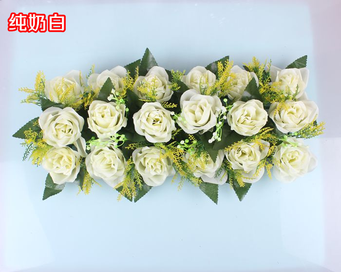 Свадебная композиция Свадебные Искусственные Свадебные шелковые розы арки цветочное свадебное украшение ряд цветов рамка с цветами 10 шт./партия - Цвет: FD13