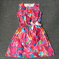 2017 new summer children clothing design troll clothes girls Dresses baby flower sleeveless cotton for kids clothes party dress
