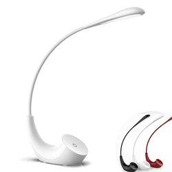 Sterowanie dotykowe Led biurko Lmap 3 poziomów ściemniania pielęgnacji oczu czytanie składane lampa stołowa-USB akumulator + kabel usb (wsparcie 5 V/1A port)