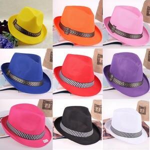 a7132b56d53 HUDANHUWEI Panama Fedora Hats for Men Women Jazz Cap