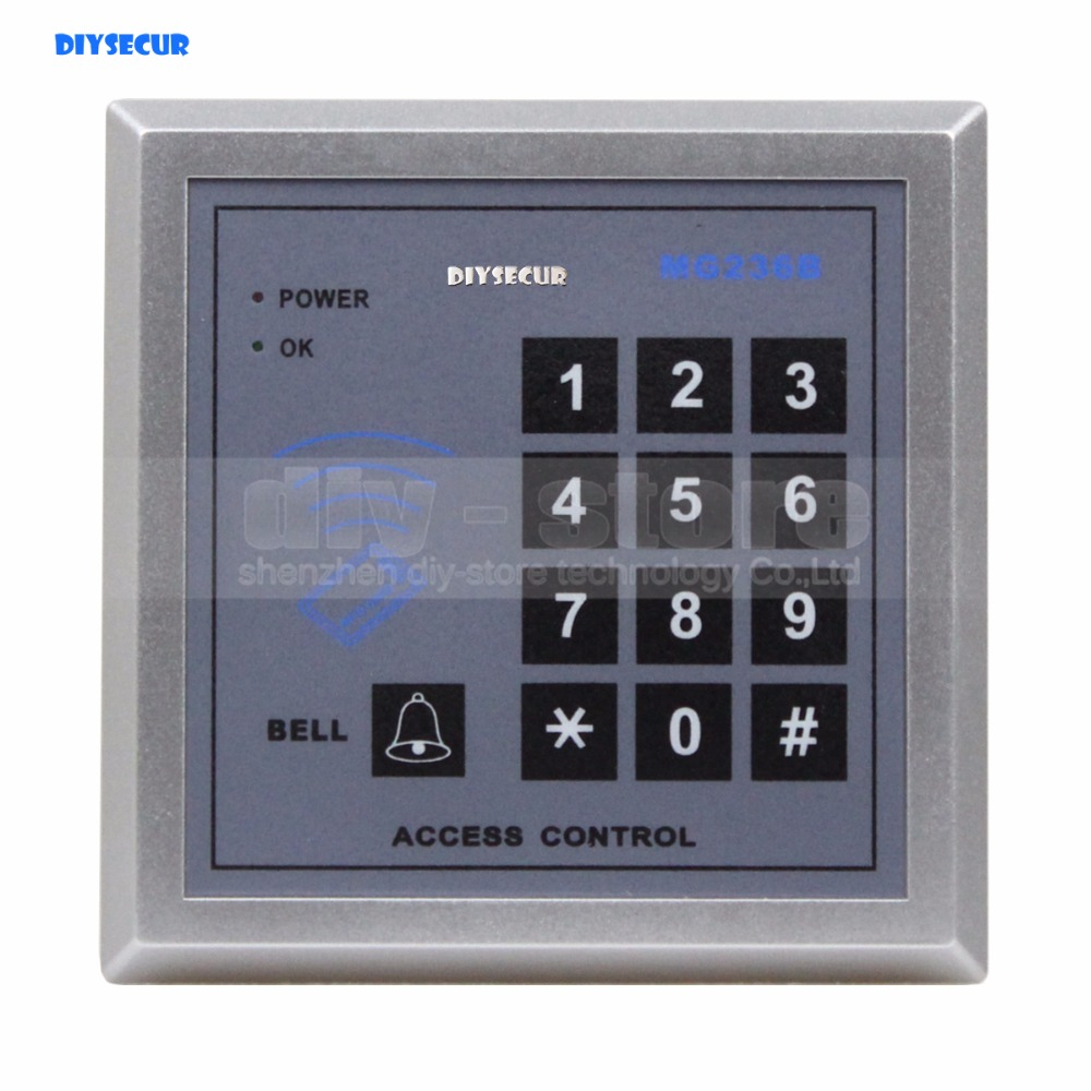 DIYSECUR Door Access Controller Keypad RFID IC Cards Proximity Reader + 10 Free IC Card For House / Office / Home Improvement diysecur touch keypad 125khz rfid id card reader access controller kit for house office home improvement free shipping