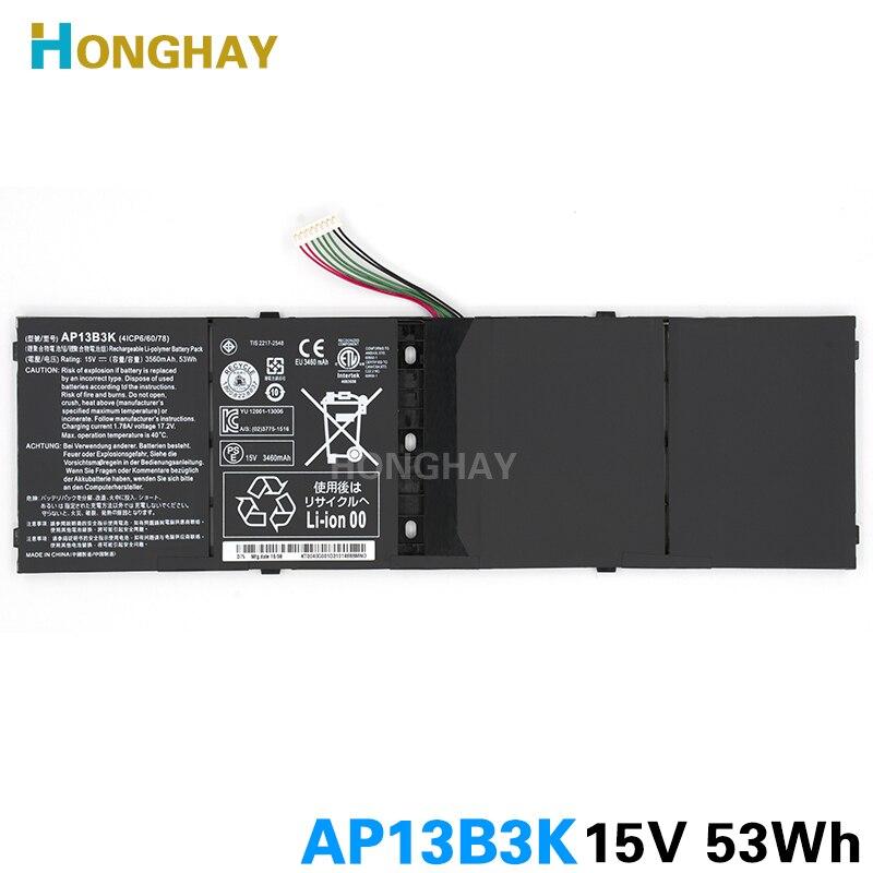 Honghay AP13B3K Batterie D'ordinateur Portable pour Acer Aspire V5 R7 V5-572G V5-573G V5-472G V5-473G V5-552G M5-583P V5-572P R7-571 AP13B8K