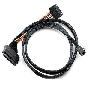 Image 3 - ミニ sas 36 1080P HD8643 ミニ SAS 8639 + 15P 電源ハードドライブのデータケーブル