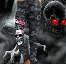 2019 New Arrival Leggings Women Skull HeadGym Printed Camouflage Legging Workout Leggins Slim Elastic Plus Size Pants Legins Usa