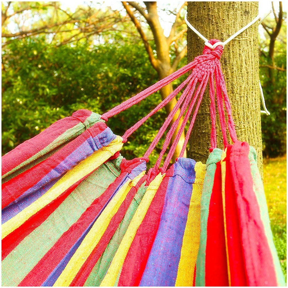 Image 5 - Hot Sale Hammock for 2 persons 200cm * 150cm up to 200 kg Red-in Hammocks from Furniture