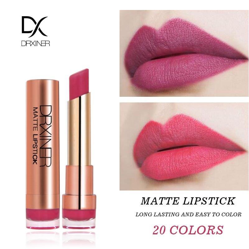 DRXINER Matte Lipstick New Rouge Matte Soft Creamy Moisturizing Lipstick Makeup Long Lasting Waterproof Velvet Smooth Beauty  1