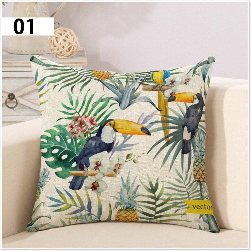 Rainforest Southeast Asian Style Pillow Linen Cover