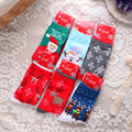 New Women's Snowflake Deer Printed Cotton Casual Socks Ladies Female Girl Men Christmas Gift Hosiery Free Size Free Shipping