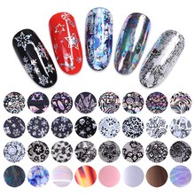 10 Rolls/Box Nail Foils Holographic Transfer Sticker Decals Mixed Pattern Colorful Nails Wraps Nail Art Design Decorations diy water transfer foils nail art sticker fashion nails cartoon harajuku sailor moon decals minx nail decorations