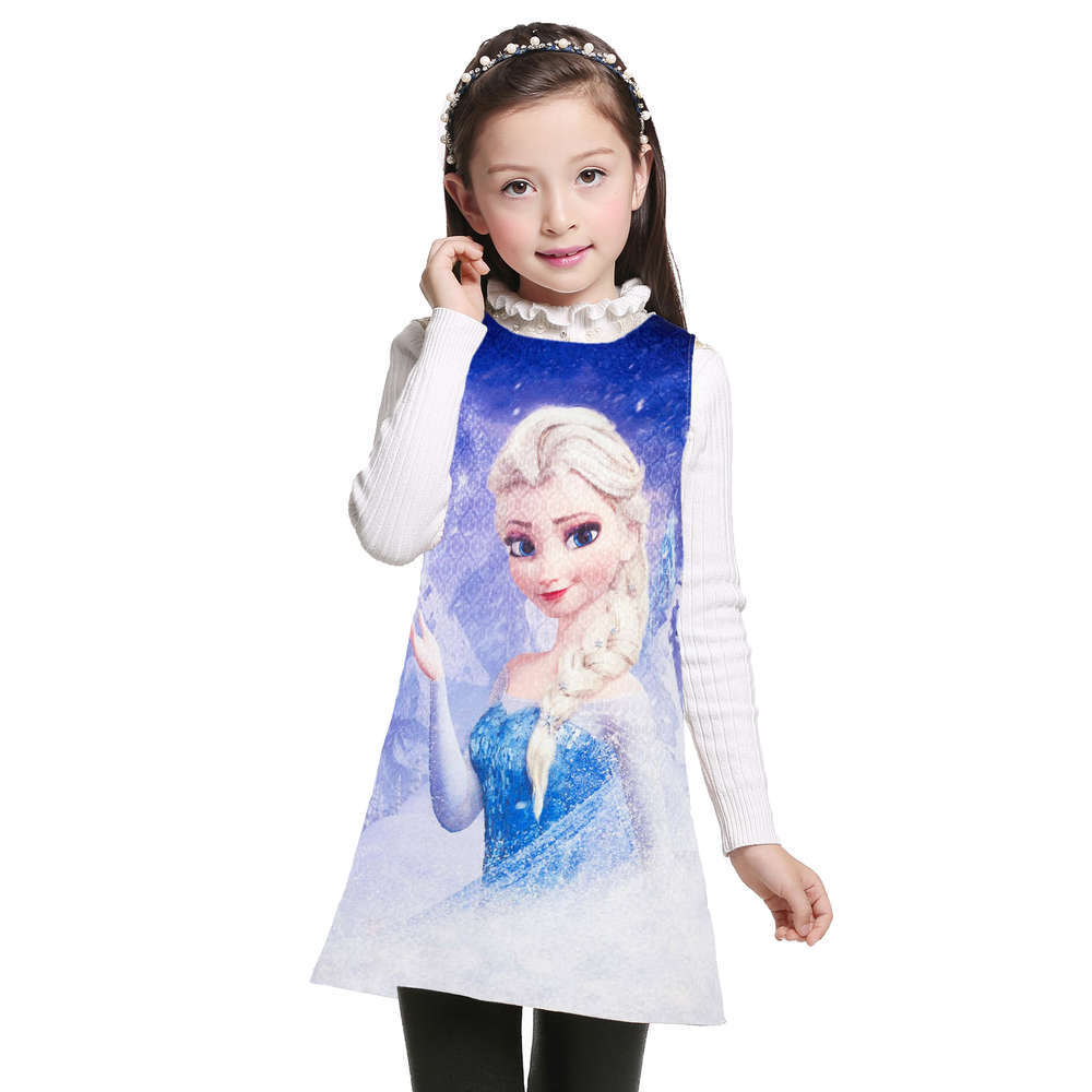 Kids Girls Elsa Anna Princess Dresses Sleeveless Formal Children Girl Dresses Teenagers Party Dress Vestidos Kids Costume summer girl dress 2017 summer girls style fashion sleeveless printed dresses teenagers party clothes party dresses for girl 12 20 years page 2