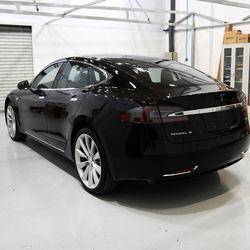 SUS304 Acciaio Inossidabile Posteriore Fanali Posteriori Chiari Accessori per Tesla Contorno CoverTrim Modello S-2012-2016
