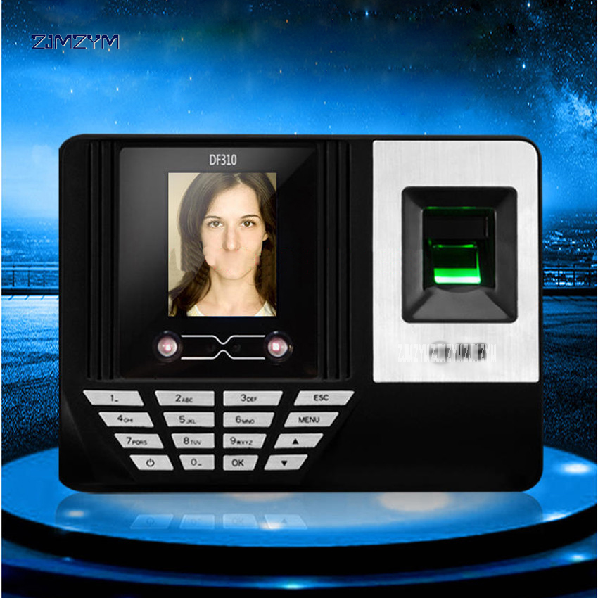 DF310 face recognition attendance fingerprint punch card face recognition sign machine brush face to work  punch 2.8 inch screen face recognition using three dimensional and multimodal images